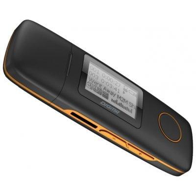 Цифровой плеер Digma U3 4Gb черный/оранжевый (U3 4Gb черный/оранжевый) flash mp3 плеер digma u3 4gb black orange
