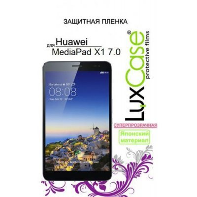 Пленка защитная для планшетов LuxCase Huawei MediaPad X1 (Суперпрозрачная), 183х103 мм (80756)Пленки защитная для планшетов LuxCase<br>защитная плёнка для Huawei MediaPad X1, суперпрозрачная<br>