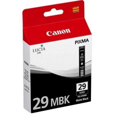 Картридж для струйных аппаратов Canon PGI-29MBK черный матовый (4868B001)Картриджи для струйных аппаратов Canon<br>Картридж Canon PGI-29MBK для PRO-1. Матовый чёрный. 505 страниц.<br>