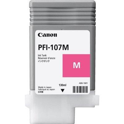 Картридж для струйных аппаратов Canon PFI-107M 6707B001 Пурпуный (6707B001)Картриджи для струйных аппаратов Canon<br>Картридж Canon PFI-107 M для плоттера iPF680/685/780/785. Пурпуный. 130 мл.<br>
