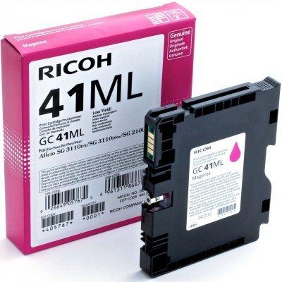 Картридж для струйных аппаратов Ricoh GC 41ML пурпурный 405767 (405767)Картриджи для струйных аппаратов Ricoh<br>Картридж GC 41ML для Aficio SG 2100N/ 3110DN/ 3110DNw/3100SNw/3110SFNw/7100DN. Пурпурный. 600 страни<br>