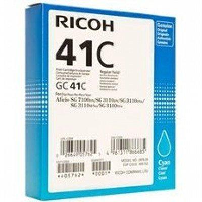 Картридж для струйных аппаратов Ricoh GC 41C голубой 405762 (405762)Картриджи для струйных аппаратов Ricoh<br>Картридж GC 41C для Aficio 3110DN/ 3110DNw/3100SNw/3110SFNw/7100DN. Голубой. 2200 страниц.<br>