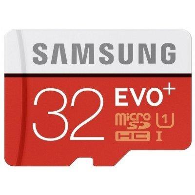 Карта памяти Samsung 32GB MicroSDHC Class 10 MB-MC32DA (MB-MC32DA/RU)Карты памяти Samsung<br>Карта памяти MicroSDHC 32GB Samsung EVO PLUS Class 10 UHS-I + адаптер (read speed up to 80MB/s, writ<br>