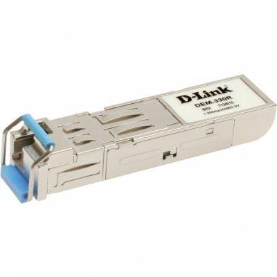 Трансивер D-Link DEM-330R/B2A (DEM-330R/B2A)Трансиверы D-Link<br>D-LINK DEM-330R/B2A Модуль mini-GBIC 1000Base-LX (до 10 км)<br>