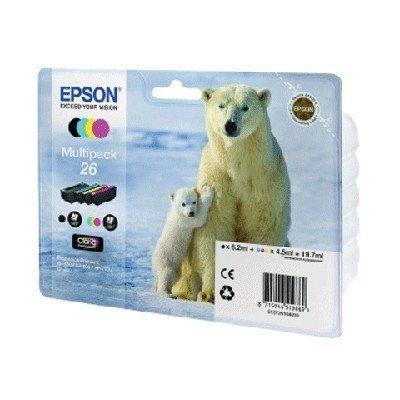 Картридж для струйных аппаратов Epson C13T26164010 черный/голубой/желтый/пурпурный набор (C13T26164010)Картриджи для струйных аппаратов Epson<br>Картридж струйный Epson C13T26164010 черный/голубой/желтый/пурпурный набор карт. для XP-600/605/700/710/800<br>
