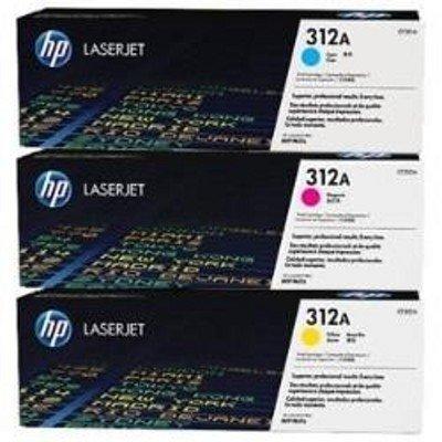 Тонер-картридж для лазерных аппаратов HP 312A CF440AM голубой/желтый/пурпурный (CF440AM)Тонер-картриджи для лазерных аппаратов HP<br>Тонер Картридж HP 312A CF440AM голубой/желтый/пурпурный x3уп. для CLJ Pro M476 (2400стр.)<br>