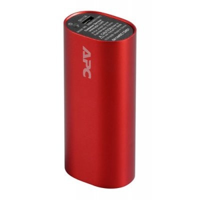 Внешний аккумулятор для портативных устройств APC by Schneider Electric M3BK/BL/RD/SR/TM-EC красный (M3RD-EC)Внешние аккумуляторы для портативных устройств APC<br>Мобильный аккумулятор APC PowerPack M3RD-EC Li-Pol 3000mAh 1A красный<br>