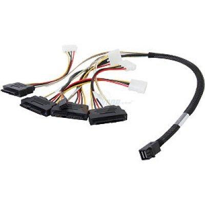 Контроллер SAS LSI 00412 (LSI00412)Контроллеры SAS LSI<br>Кабель LSI CBL-SFF8643-SAS8482SB-06M  (LSI00412) длина 60см,наконечники: SFF8643(контроллер)-SFF8482<br>