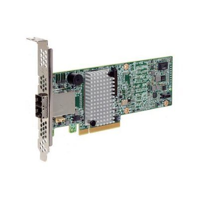 Контроллер RAID LSI 00438 (LSI00438)Контроллеры RAID LSI<br>Контроллер LSI MegaRAID SAS9380-8e (PCI-E 3.0 x8, LP) SGL SAS 12G, RAID 0,1,10,5,6, 8port (2*extSFF8<br>