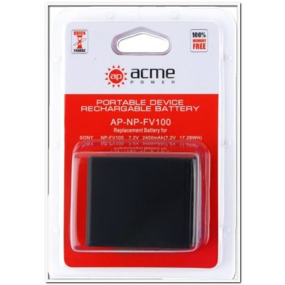 Аккумулятор для фотоаппарата AcmePower AP-NP-FV100 2600mAh 7.2V Li-Ion (AP-NP-FV100) sony hdr az1vr