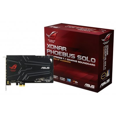 Звуковая карта внутренняя ASUS ROG Xonar Phoebus Solo (ROG XONAR PHOEBUS SOLO)Звуковые карты внутренние ASUS<br>Звуковая карта Asus PCI-E ROG Xonar Phoebus Solo (C-Media CMI8888DHT) 7.1 (5.1 digital S/PDIF out Dolby Digital Live) RTL<br>