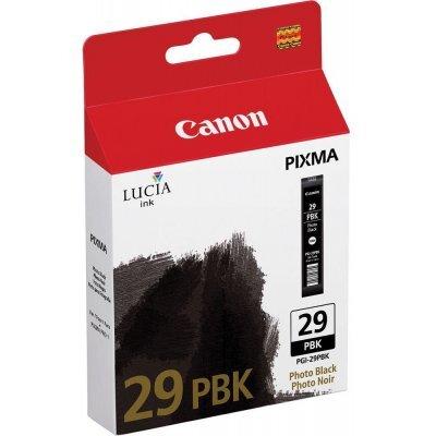 Картридж для струйных аппаратов Canon PGI-29PBK для PRO-1. Чёрный (4869B001)Картриджи для струйных аппаратов Canon<br>Фотокартридж Canon PGI-29PBK для PRO-1. Чёрный. 111 страниц.<br>
