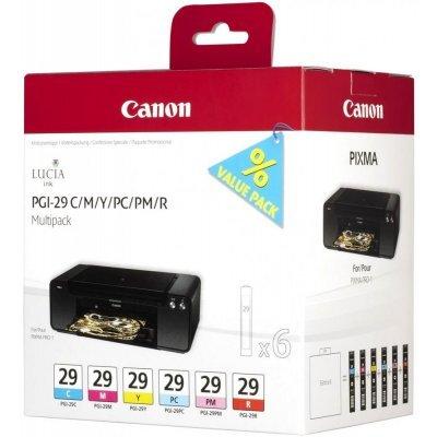Картридж для струйных аппаратов Canon PGI-29 CMY/PC/PM/R Multi для PRO-1 (4873B005)Картриджи для струйных аппаратов Canon<br>Набор картриджей Canon PGI-29 CMY/PC/PM/R Multi для PRO-1. Голубой, пурпурный, жёлтый, фото-голубой,<br>