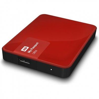 Внешний жесткий диск Western Digital WDBDDE0010BBY-EEUE 1Tb красный (WDBDDE0010BBY-EEUE)Внешние жесткие диски Western Digital<br>Внешний диск 2.5 1TB WD My Passport Ultra Berry<br>