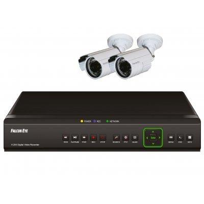 Комплект видеонаблюдения Falcon Eye FE - 104DKIT Light (Base) (FE - 104DKIT Light (Base))Комплекты видеонаблюдения Falcon Eye<br>Комплект видеонаблюдения Falcon Eye FE-104D KIT Light Комплект видеонаблюдения 4 канальный + 2 камер<br>