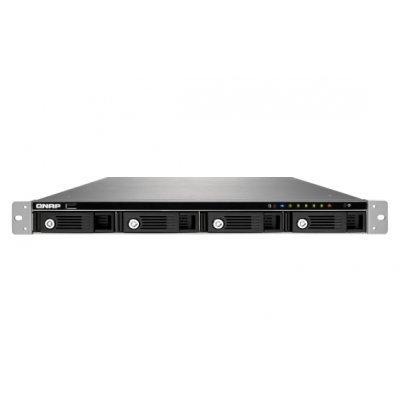 Рэковое сетевое хранилище (Rack NAS) NAS Qnap TS-451U (TS-451U)Рэковые сетевые хранилища (Rack NAS) Qnap<br>Cетевой накопитель QNAP TS-451U 4 отсека для HDD, стоечное исполнение. Intel Celeron J1800 2,41 ГГц, 1ГБ<br>