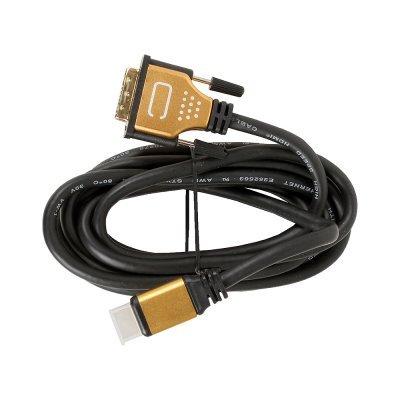 Кабель HDMI 3Cott 3C-HDMI-DVI-103GP-3.0M v1.4, 30AWG, позолоченные коннекторы, 3м (3C-HDMI-DVI-103GP-3.0M)Кабели HDMI 3Cott<br>Кабель 3Cott HDMI высшей категории 19M на DVI 18+1 M 3C-HDMI-DVI-103GP-3.0M, Версия 1.4, 30AWG, позолоченные коннекторы, 3 м<br>