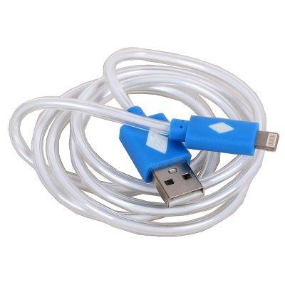 Кабель USB 3Cott 3C-CLDC-065BBL-IP5 1 м, синий (3C-CLDC-065BBL-IP5)Кабели USB 3Cott<br>Кабель 3Cott 3C-CLDC-065BBL-IP5, Apple Lightning MFI с подсветкой холодного оттенка, 1 м, синий<br>