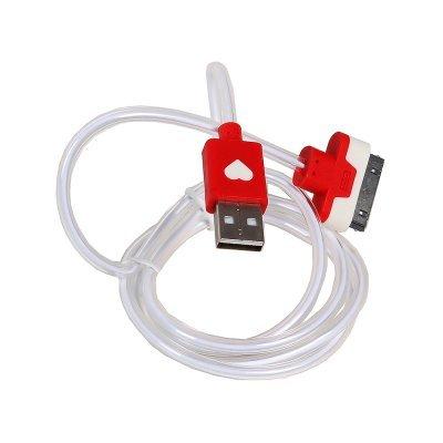 Кабель USB 3Cott 3C-LDC-064R-IP4 (3C-LDC-064R-IP4)Кабели USB 3Cott<br>Кабель 3Cott 3C-LDC-064R-IP4, Apple 30-pin с подсветкой теплого оттенка, 1 м, красный<br>