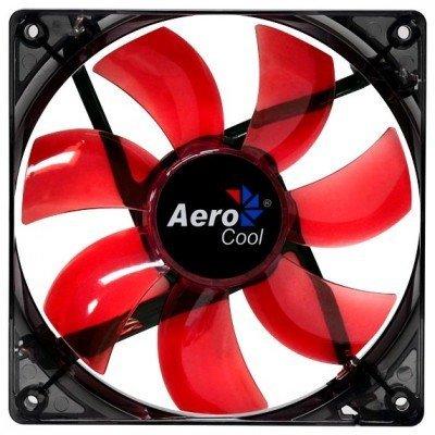 Система охлаждения корпуса ПК Aerocool Lightning 12cm Red LED (4713105951363)Системы охлаждения корпуса ПК Aerocool<br>Вентилятор Aerocool Lightning 12см Red Edition (красная подсветка), 3+4 pin, 41.4 CFM, 1200 RPM, 22.5 dBA<br>