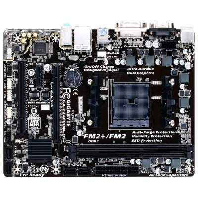 Материнская плата ПК Gigabyte GA-F2A68HM-DS2 (rev. 1.0) (GA-F2A68HM-DS2)Материнские платы ПК Gigabyte<br>Мат. плата GIGABYTE GA-F2A68HM-DS2 &amp;lt;SFM2+, AMD A68, 2*DDR3, PCI-E16x, PCI-E x1, PCI, SVGA, DVI, SATA III+RAID, USB 3.0, GB Lan, mATX, Retail&amp;gt;<br>