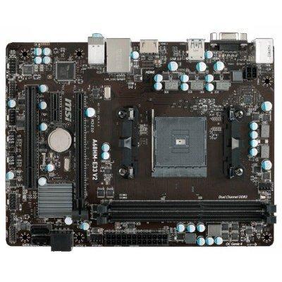 Материнская плата ПК MSI A68HM-E33 V2 (A68HM-E33 V2)Материнские платы ПК MSI<br>Мат. плата MSI A68HM-E33 V2 &amp;lt;SFM2+, AMD A68H, 2*DDR3, PCI-E16x, PCI-E1x, VGA, HDMI, SATA III,  GB Lan, mATX, Retail&amp;gt;<br>