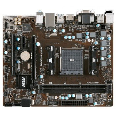 Материнская плата ПК MSI A68HM GRENADE (A68HM GRENADE)Материнские платы ПК MSI<br>Мат. плата MSI A68HM GRENADE &amp;lt;SFM2+, AMD A68H, 2*DDR3, PCI-E16x, VGA, DVI, HDMI, SATA III+RAID, GB Lan, mATX, Retail&amp;gt;<br>