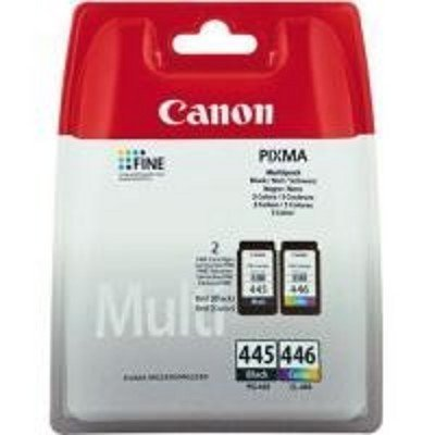 Картридж для струйных аппаратов Canon PG-445/CL-446 для MG2440/2540. Чёрный/Цветной (8283B004)Картриджи для струйных аппаратов Canon<br>Набор картриджей Canon PG-445/CL-446 для MG2440/2540. Чёрный/Цветной. 2*180 страниц.<br>