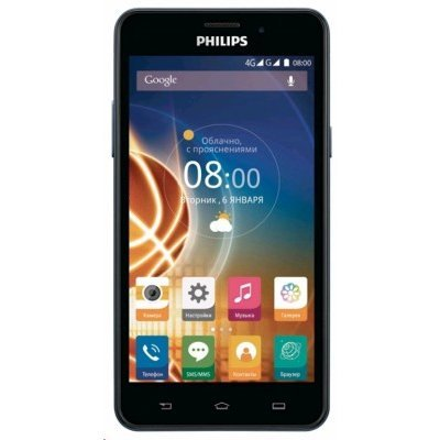 Смартфон Philips Xenium V526 8Gb Темносиний (Xenium V526) мобильный телефон philips e570 xenium dark gray