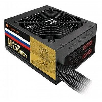 Блок питания ПК Thermaltake Амур 1200W (W0430RE)Блоки питания ПК Thermaltake<br>Блок питания Thermaltake Amur 1200W (W0430RE) v2.3,A.PFC,80 Plus Gold,Fan 14 см,Modular,Retail<br>