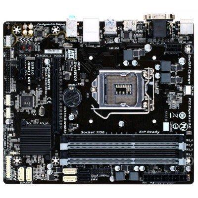 Материнская плата ПК Gigabyte GA-B85M-DS3H-A (rev. 1.0) (GA-B85M-DS3H-A)Материнские платы ПК Gigabyte<br>-: microATX, : Intel B85, : LGA1150, : 4  DDR3 DIMM (1333 - 1600 ), SATA: 3 / x2; SATA 6 / x4, : AC`97 8ch(7.1) GbLAN+VGA+DVI+HDMI<br>