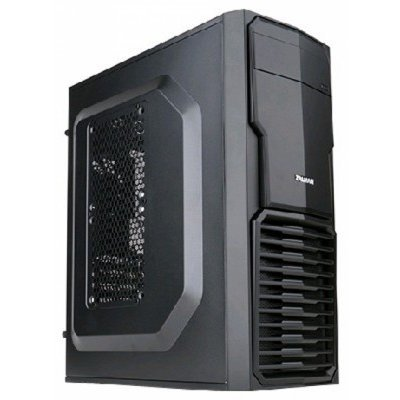 """Корпус системного блока ZALMAN ZM-T4 Black (ZM-T4)Корпуса системного блока ZALMAN<br>Корпус Zalman ZM-T4 &amp;lt;черный, Mini Tower, для Micro ATX/Mini ITX, без БП, 189(Ш) x 436(В) x 370(Г)mm, внешн. 5.25""""х1, внутр. 3.5""""х2, внутр. 2.5""""х3, USB3.0 x1, USB2.0 x 1, Headphones x 1, Mic x 1&amp;gt;<br>"""
