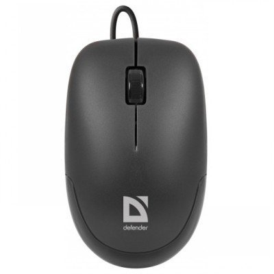 Мышь Defender Datum MM-010 Black (Черн) USB (52010)Мыши Defender<br>USB 3кн+кл,1000 dpi<br>