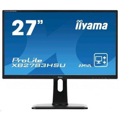 Монитор IIYAMA 27 XB2783HSU-B1DP (XB2783HSU-B1DP)Мониторы IIYAMA<br>Монитор Iiyama 27 XB2783HSU-B1DP черный AMVA+ LED 4ms 16:9 DVI M/M матовая 3000:1 300cd 160гр/160гр 1920x1080 D-Sub DisplayPort USB 4кг<br>