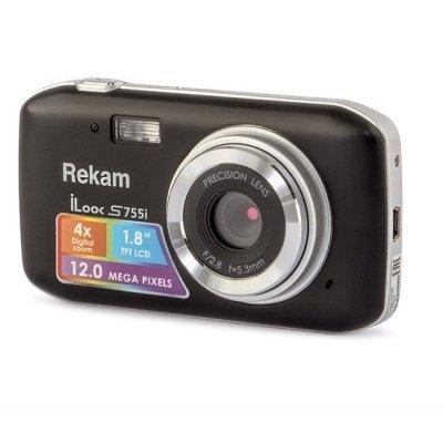 Цифровая фотокамера Rekam iLook S755i (S755I BL)Цифровые фотокамеры Rekam<br>компактная фотокамера<br>    матрица 12 МП (1/2.3)<br>    съемка видео 720p<br>    экран 1.8<br>    вес камеры 70 г<br>