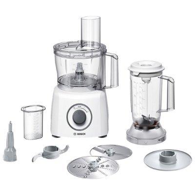 Кухонный комбайн Bosch MCM 3200 w (MCM3200W)Кухонные комбайны Bosch<br>Кухонный комбайн BOSCH/ 800 Вт, блендер, насадки: 4, Скорости: 2, Цвет: белый<br>