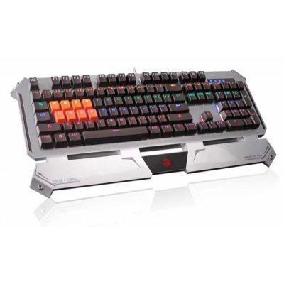 Клавиатура A4Tech B740 Silver USB (B740A)Клавиатуры A4-Tech<br>Клавиатура A4 Bloody B740A серебристый/черный USB Gamer LED (подставка для запястий)<br>