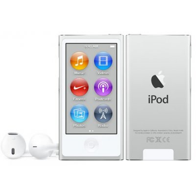 Цифровой плеер Apple iPod nano 7 16Gb серебристый (MKN22RU/A) apple ipod nano chromatic 4g 8gb