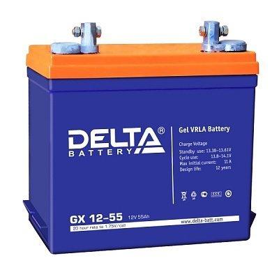 Аккумуляторная батарея для ИБП Delta GX 12-55 (GX 12-55)Аккумуляторные батареи для ИБП Delta<br><br>