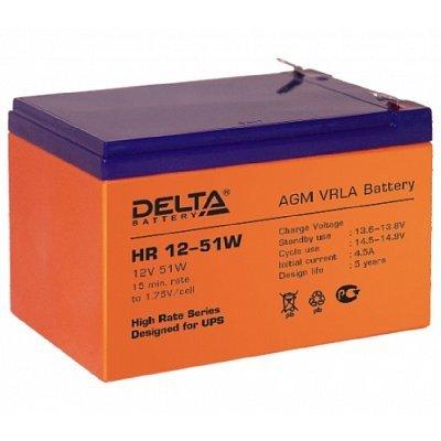 Аккумуляторная батарея для ИБП Delta HR12-51W (HR12-51W) аккумуляторная батарея для ибп delta hr 12 28w hr 12 28 w