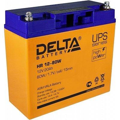 Аккумуляторная батарея для ИБП Delta HR12-80W (HR12-80W) аккумуляторная батарея для ибп delta hr 12 28w hr 12 28 w