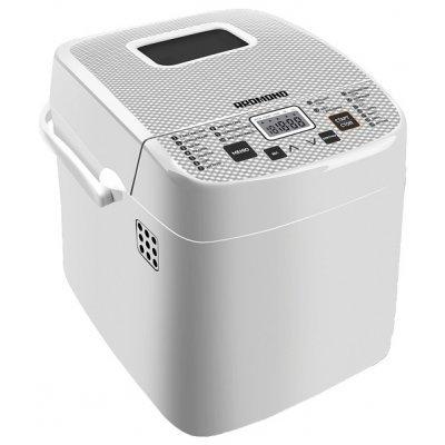 Хлебопечь Redmond RBM-1908 белый 450Вт (RBM-1908 белый)Хлебопечи Redmond<br>хлебопечка<br>    вес выпечки 750 г<br>    вес выпечки регулируется<br>    выпечка в форме буханки<br>    выбор цвета корочки<br>    19 автоматических программ<br>    быстрая выпечка<br>    варка джема<br>    бездрожжевая выпечка<br>