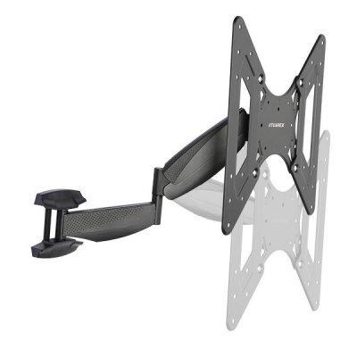Кронштейн для ТВ и панелей настенный Tuarex OLIMP-8010 15-40 черный (OLIMP-801) кронштейн tuarex olimp 8002 черный 37 63 1 степень свободы vesa 700х500мм до 80кг