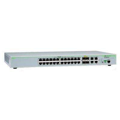 Коммутатор Allied Telesis AT-9000/28POE-50 (AT-9000/28POE-50)Коммутаторы Allied Telesis<br>коммутатор (switch)<br>    возможность установки в стойку<br>    24 порта Ethernet 10/100/1000 Мбит/сек<br>    4 скорость до 10/100/1000 Мбит/сек<br>    128 Мб оперативной памяти<br>    440 x 44 x 256 мм, 3.62 кг<br>