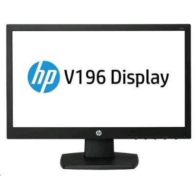 Монитор HP 18,5 ProDisplay V196 (M7F91AA)Мониторы HP<br>HP ProDisplay V196 18,5 LED Monitor wide(TN,200 cd/m2, 600:1, 5ms, 90°/65°, VGA, DVI-D, 1366x768, LED backlight,EPEAT gold)<br>