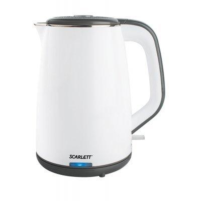 Электрический чайник Scarlett SC-EK21S11 (SC-EK21S11)Электрические чайники Scarlett<br>Чайник электрический Scarlett SC-EK21S11 белый 1.7л. 2200Вт<br>