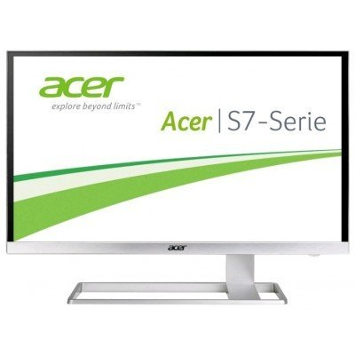 Монитор Acer 27 S277HKwmidpp (UM.HS7EE.001) (UM.HS7EE.001)Мониторы Acer<br>IPS LED, 3840x2160, 4ms, 100M:1, 300 cd/m2, 178°/178°, DVI, HDMI, DisplayPort, Silver<br>