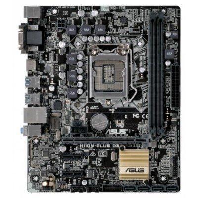 Материнская плата ПК ASUS H110M-PLUS D3 ( 90MB0NN0-M0EAY0)Материнские платы ПК ASUS<br>ASUS H110M-PLUS D3 /LGA1151,H110,D3,USB3.1,HDMI,MB ; 90MB0NN0-M0EAY0<br>