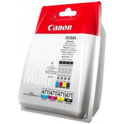 Картридж для струйных аппаратов Canon CLI-471 BK/C/M/Y для MG5740 (0401C004)Картриджи для струйных аппаратов Canon<br>Картридж Canon CLI-471 BK/C/M/Y для MG5740, MG6840. Комплект картриджей.<br>
