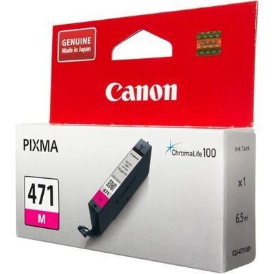 Картридж для струйных аппаратов Canon CLI-471 M для MG5740, MG6840, MG7740. Пурпурный (0402C001)Картриджи для струйных аппаратов Canon<br>Картридж Canon CLI-471 M для MG5740, MG6840, MG7740. Пурпурный. 320 страниц.<br>
